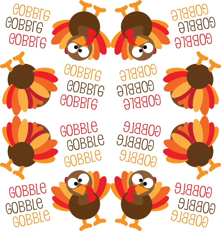Turkey gobble clipart banner freeuse download Gobble, Gobble, Gobble Funny Turkey Thanksgiving wallpaper - khaus ... banner freeuse download