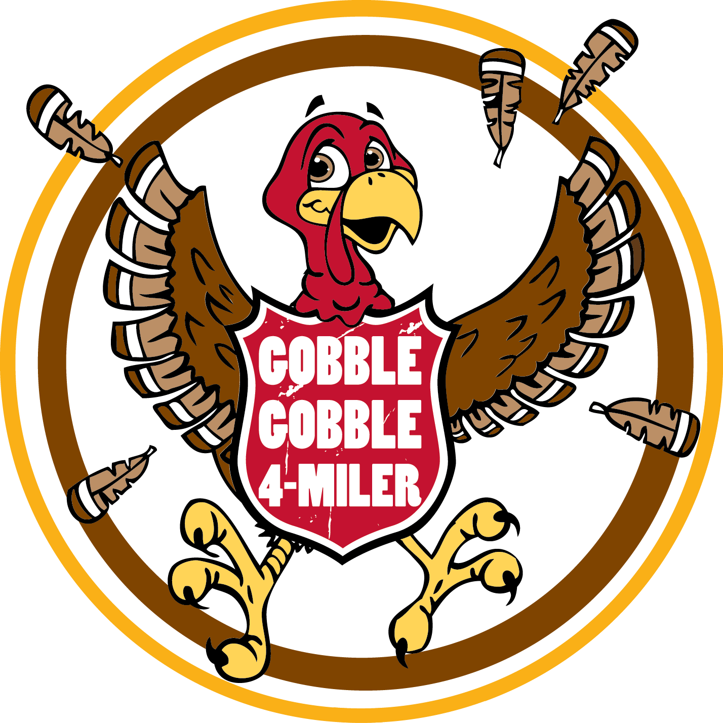 Turkey trot clipart png black and white stock About Gobble - Gobble Gobble Four Miler ™ png black and white stock