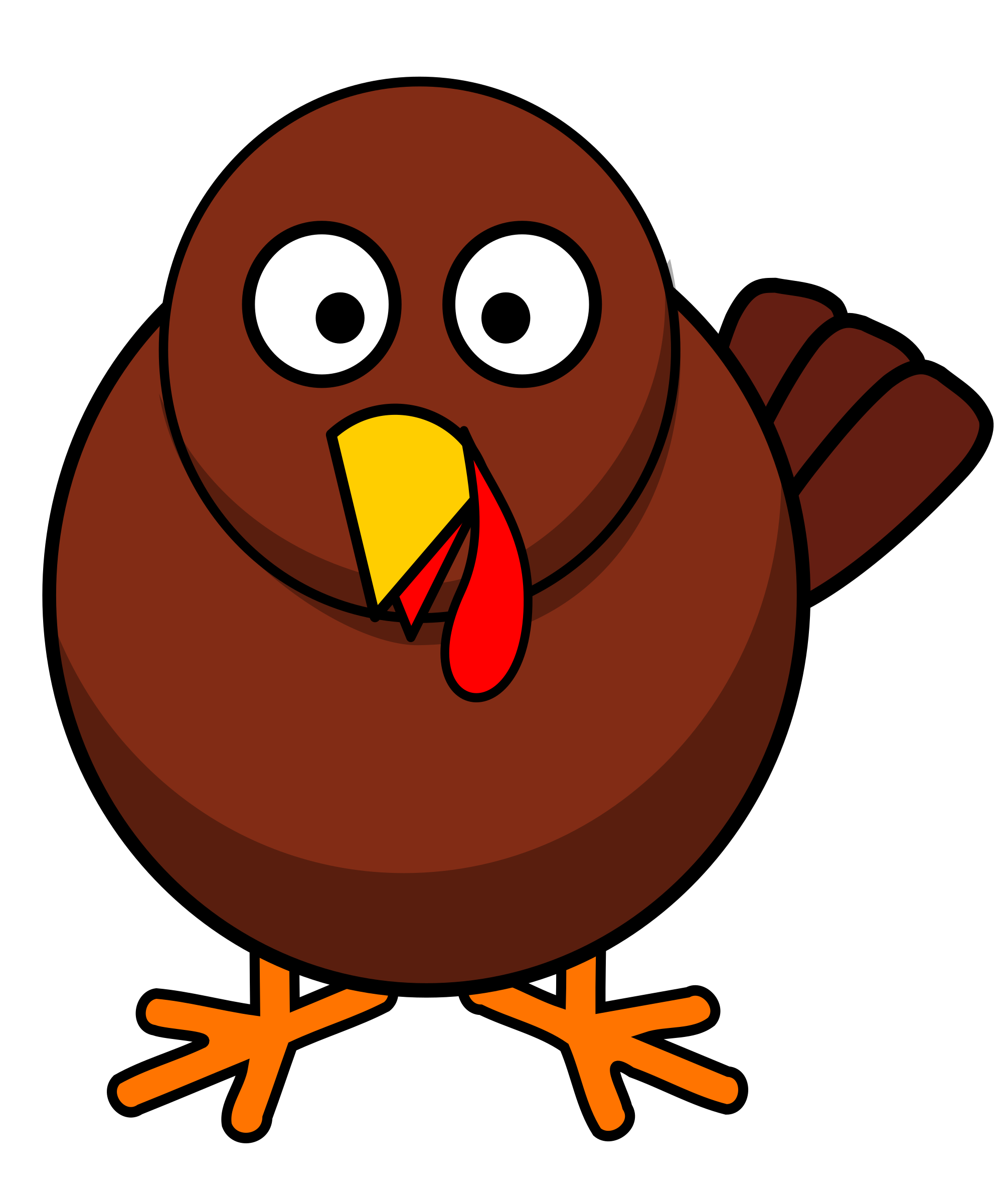 Clipart - Turkey Round Cartoon clip art freeuse