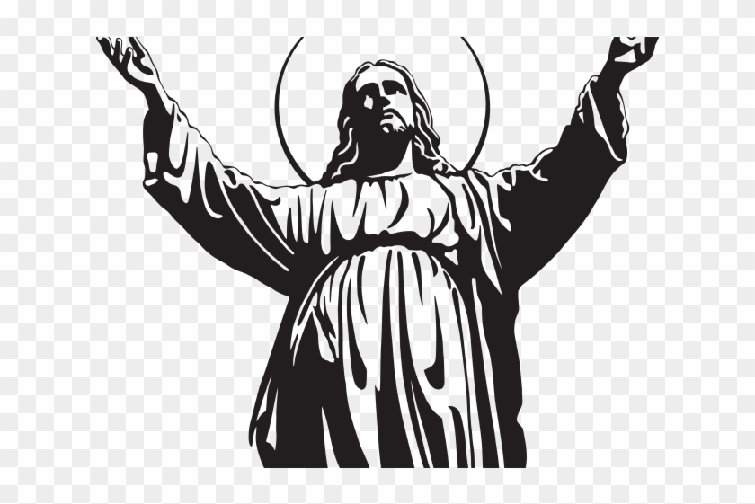 God black and white clipart jpg stock Gods Clipart Black And White - Jesus Christ Silhouette, HD Png ... jpg stock