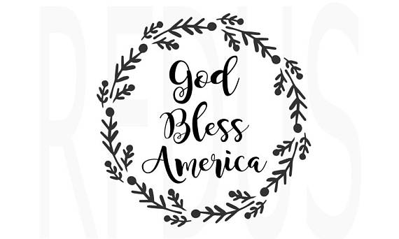 God bless america clipart black and white clip black and white god bless america svg, Home of the free because of the brave svg ... clip black and white