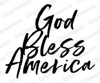God bless texas clipart black and white jpg free library God Bless America - Cling Stamp jpg free library