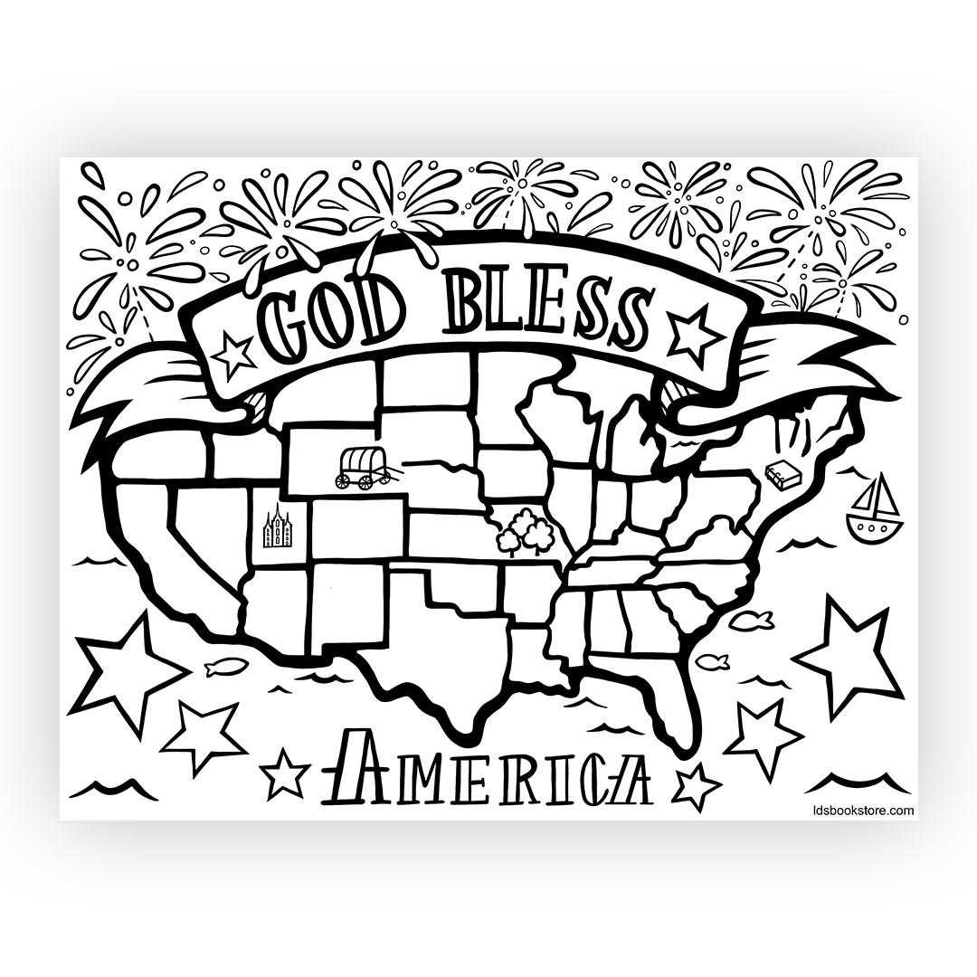 God bless america clipart black and white picture royalty free stock God Bless America Coloring Page picture royalty free stock