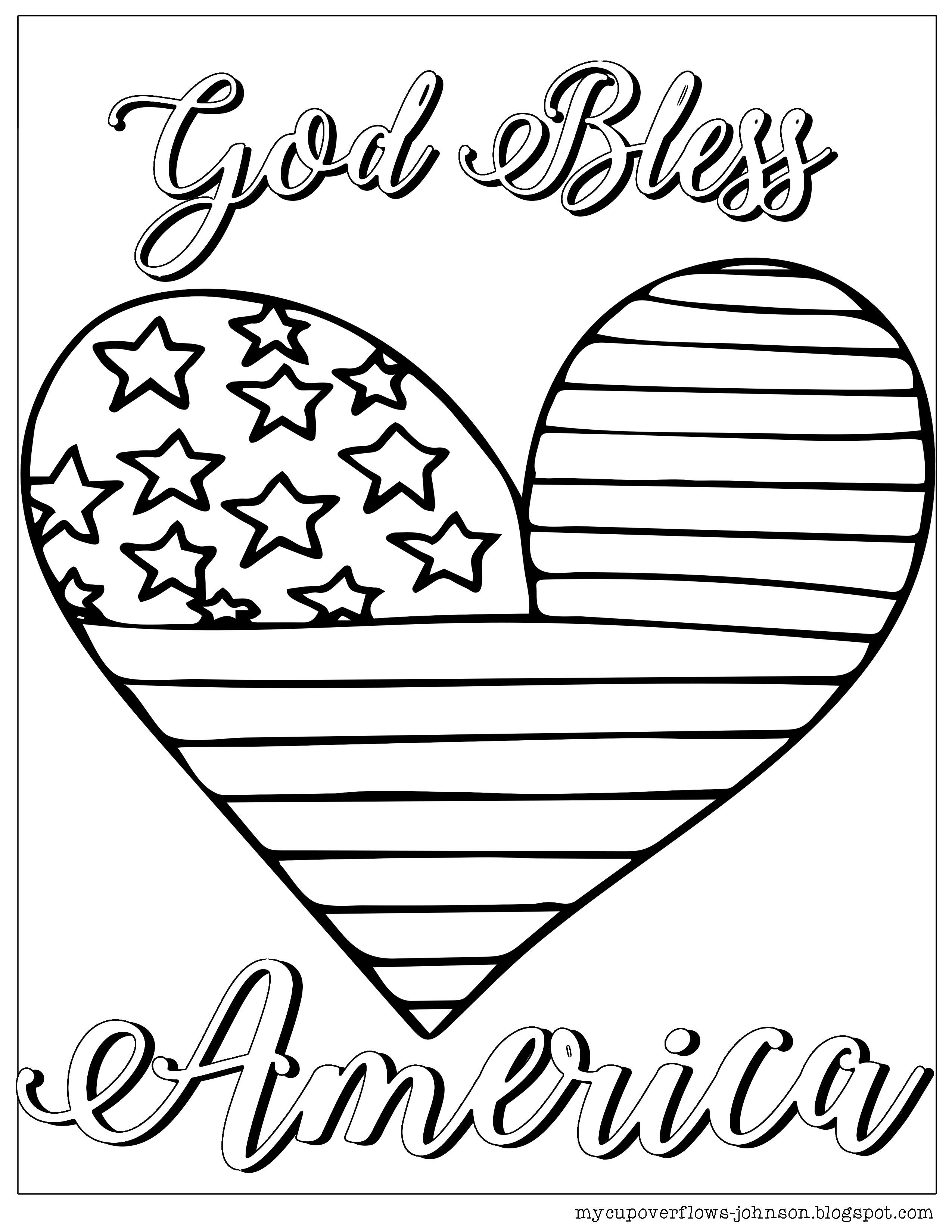 God bless our school clipart black and white graphic transparent stock Coloring Pages for the 4th of July | Coloring Pages | Coloring pages ... graphic transparent stock