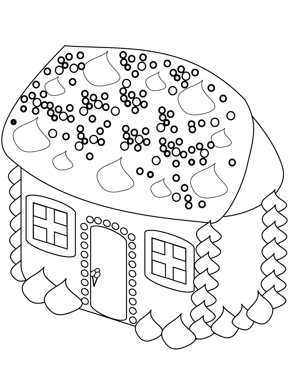 God bless our school clipart black and white clipart free download coloring ~ Coloring House Sheet Picture Inspirations Gingerbread ... clipart free download