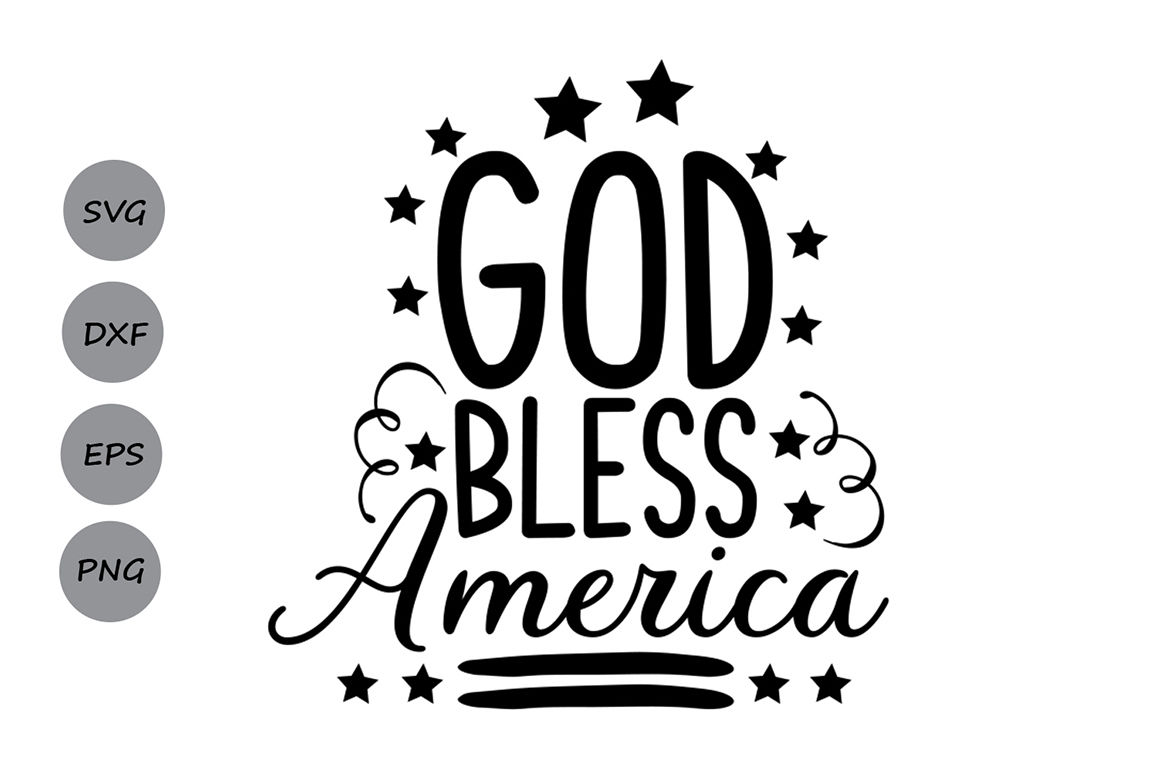 God bless our school clipart black and white graphic royalty free download God Bless America SVG, Patriotic SVG, 4th of July SVG, America Svg ... graphic royalty free download
