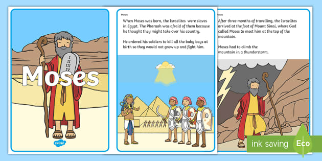 God helped moses to be a leader clipart banner transparent download Story of Moses Sequencing (4 per A4) banner transparent download
