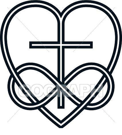 God is love clipart black and white banner library library Christian Cross Clipart And Love God - Clipart1001 - Free Cliparts banner library library
