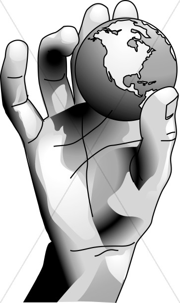 God of earth black and white clipart banner library library God Holds the Earth in His Hands | Old Testament Clipart banner library library