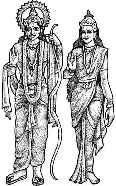 God ram clipart svg royalty free stock Image result for black and white photo of ram and sita | diwali in ... svg royalty free stock