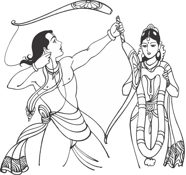 God ram clipart png download Lord Rama – Pencil Sketches – A MYTHOLOGY BLOG png download