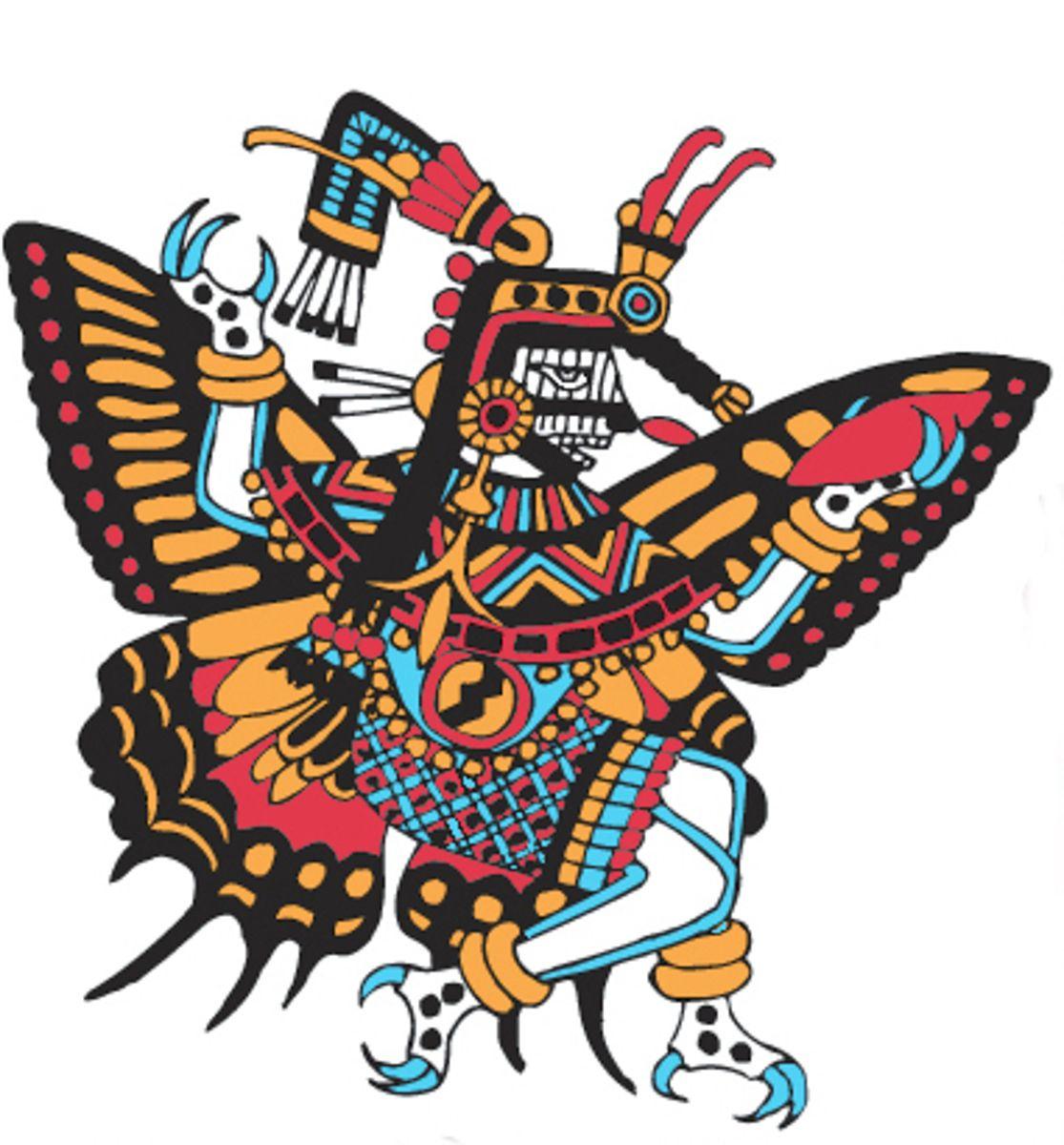 Goddess butterfly clipart clip art royalty free Day 3: FIRE: Ancient Culture/Butterflies: LUNCH Itzpapalotl ... clip art royalty free