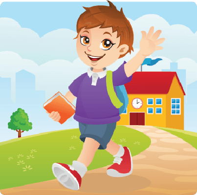 Going clipart graphic free library Cute Boy Going To School Happily | Clipart | PBS LearningMedia graphic free library