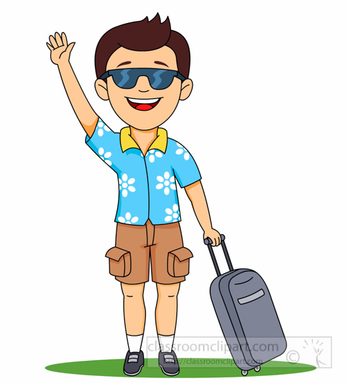 Going clipart graphic freeuse download Travel Clipart Man Going On Holiday Clipart 623 - Free Clipart graphic freeuse download