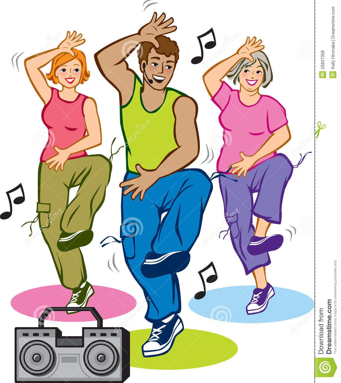 Going to the gym clipart clipart black and white library clipart danse   Vector Illustration of 3 people exercising in a ... clipart black and white library
