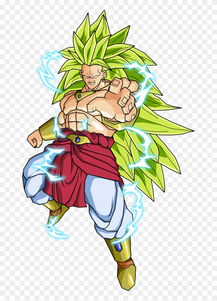 Goku Clipart Super Saiyan3 - Dragon Ball Z Broly Png Transparent Png ... banner black and white library