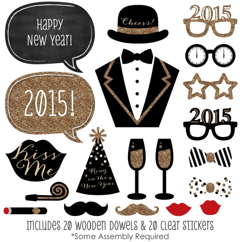 Gold 2016 happy new year printables clipart picture library library New Year's Activities for Kids - The Educators' Spin On It picture library library