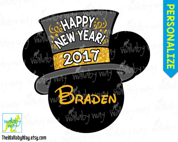 Gold 2016 happy new year printables clipart svg transparent library Disney New Years Eve 2016 Printable Iron On Transfer or Use as ... svg transparent library