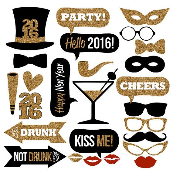 Gold 2016 happy new year printables clipart vector library download 17 Best images about happy new year - 2017 on Pinterest | Happy ... vector library download