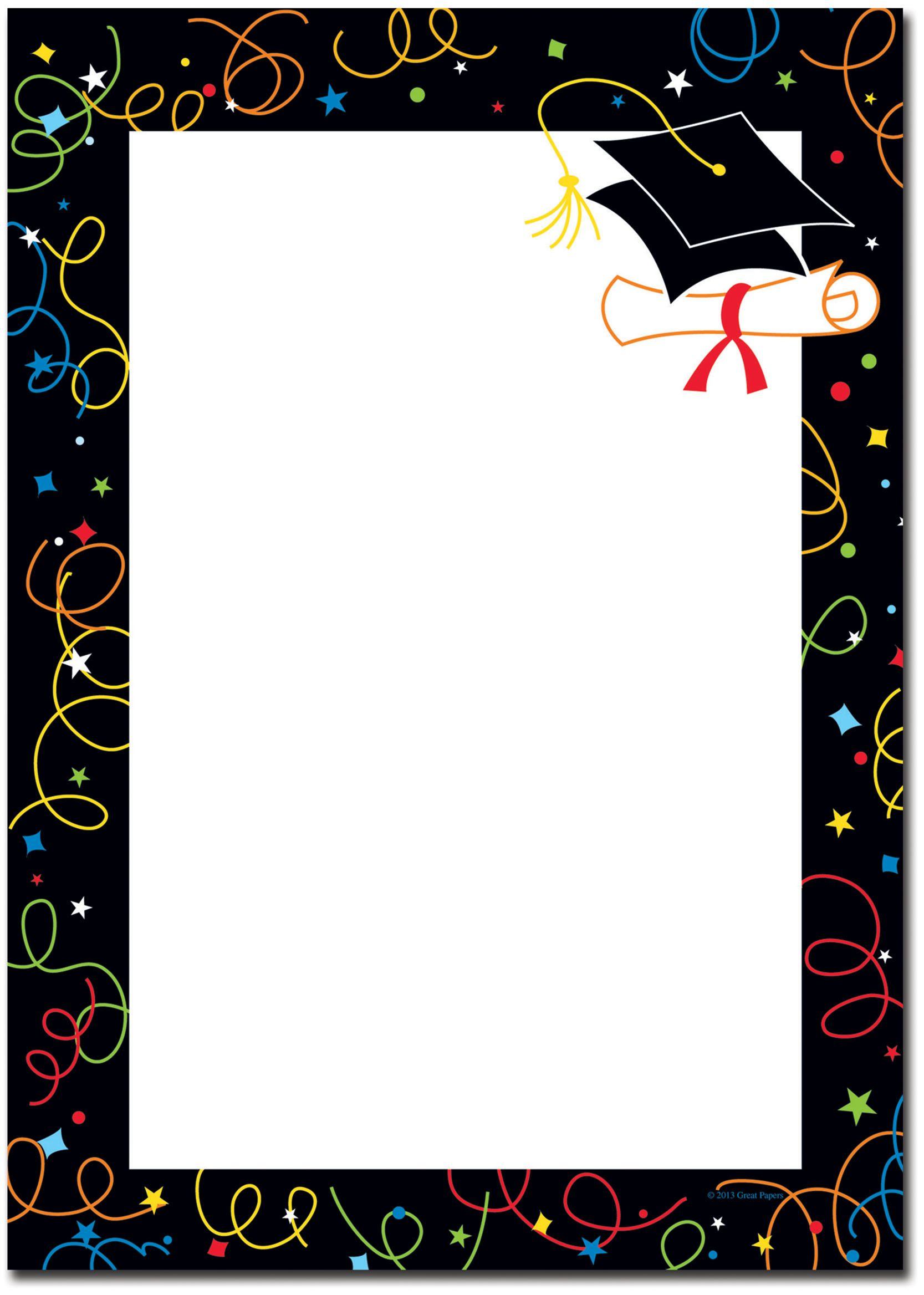 Gold and black graduation border paper clipart svg stock Graduation Borders Graduation | GRAD | Graduation invitations ... svg stock