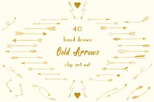 Gold arrow clipart banner royalty free library Gold arrows clipart Photos, Graphics, Fonts, Themes, Templates ... banner royalty free library