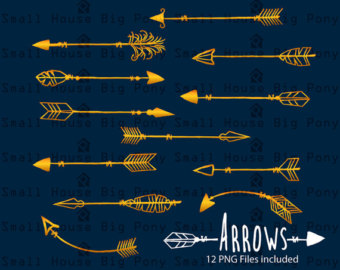 Gold arrow clipart jpg download Gold arrows clipart | Etsy jpg download