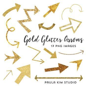 Gold arrow clipart clip freeuse stock FREE Gold Glitter Arrow Clipart | Paula Kim Studio | Pinterest ... clip freeuse stock