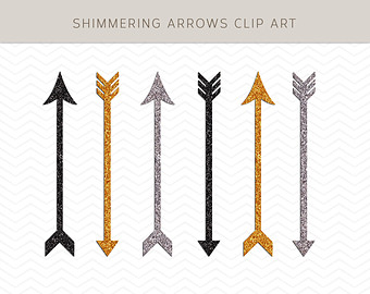 Gold arrow clipart png library stock Gold arrow clip art – Etsy png library stock