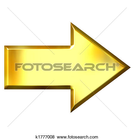 Gold arrow clipart png transparent library Clip Art of 3D Golden Arrow k1755162 - Search Clipart ... png transparent library