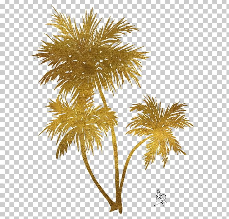 Gold asian clipart vector transparent library Asian Palmyra Palm Arecaceae Gold Painting Art PNG, Clipart ... vector transparent library