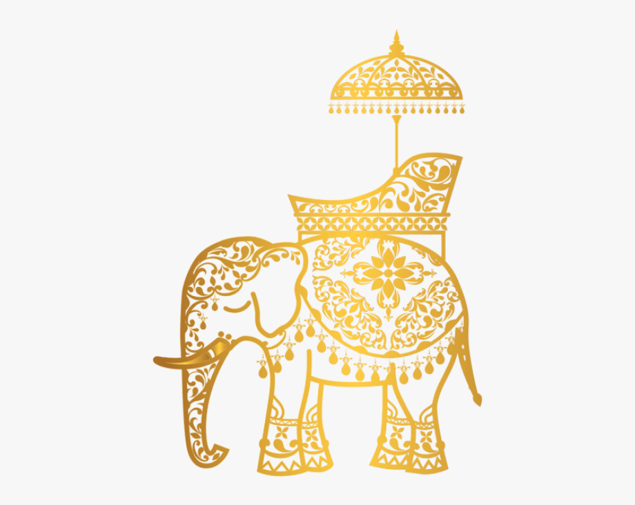 Gold asian clipart clipart black and white stock Free Png Download Gold Indian Elephant Clipart Png - Indian Elephant ... clipart black and white stock