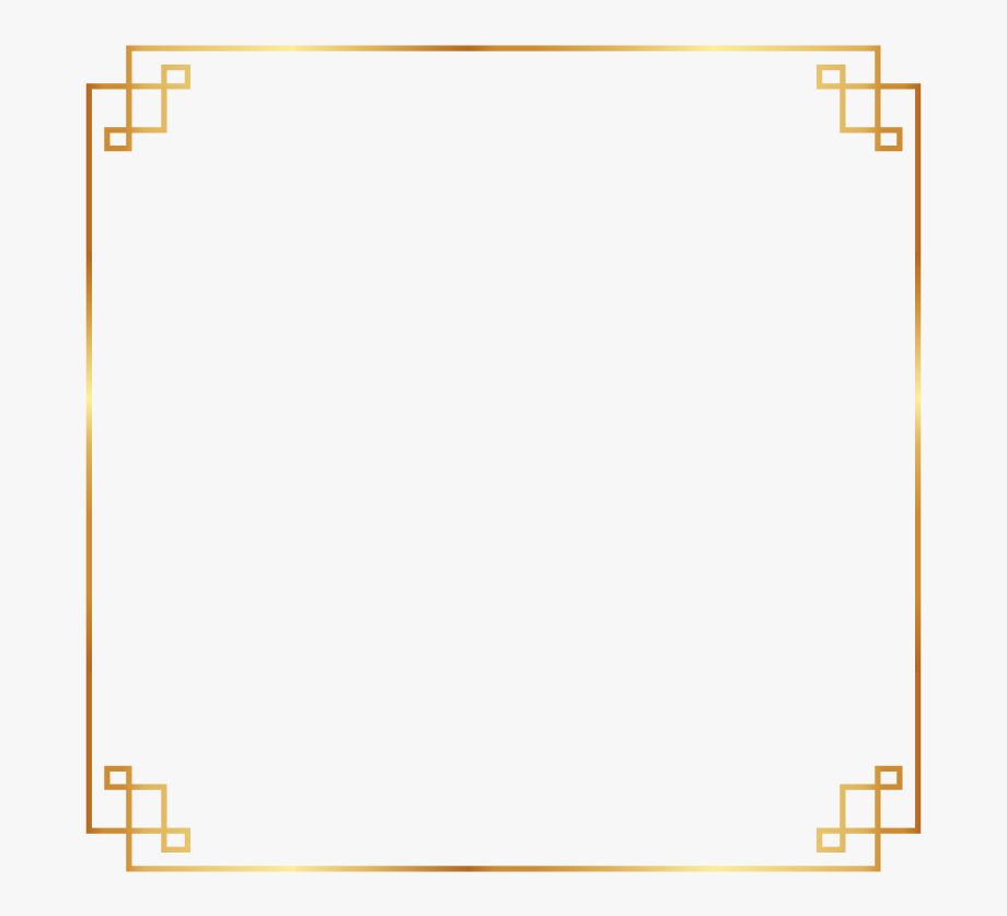 Gold asian clipart clipart free library frame #border #gold #chinese #asian #ftestickers - Simple Gold ... clipart free library