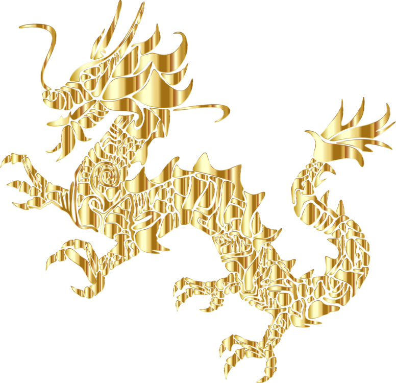 Gold asian clipart vector free Gold,Dragon,Fictional Character Clipart - Royalty Free SVG ... vector free