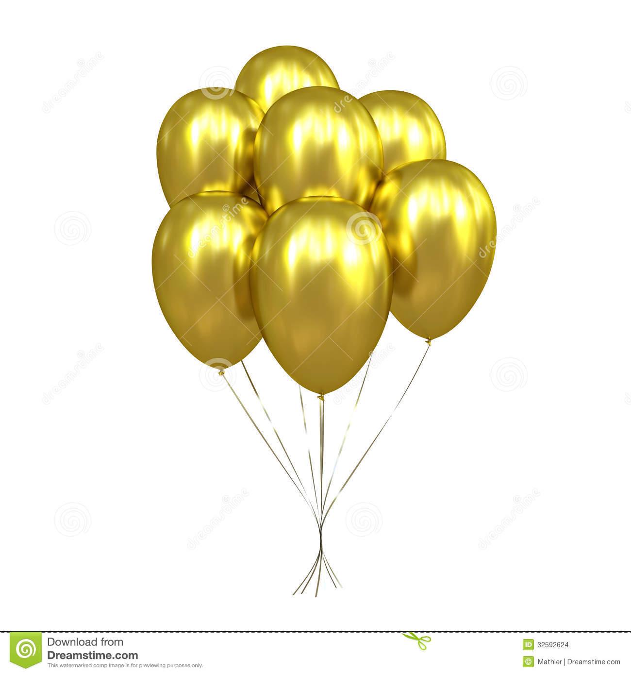 Gold balloons clipart transparent background png clip transparent 7 Golden Balloons Stock Images - Image: 32592624 clip transparent