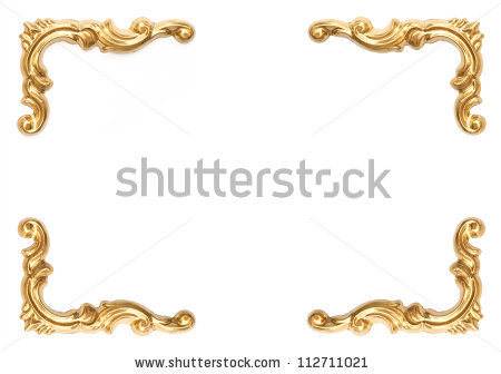 Gold block frames clipart png free library Golden Frame Stock Images, Royalty-Free Images & Vectors ... png free library