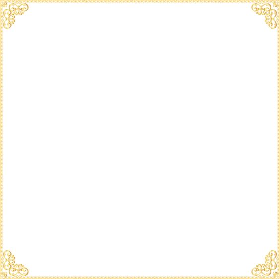 Gold block frames clipart png transparent Golden Border Frame Transparent Clip Art Image | Frame it (1 ... png transparent