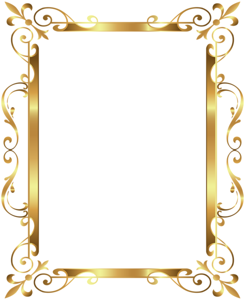 Photo frame border design clipart clipart freeuse library Gold Border Frame Deco Transparent Clip Art Image | Patterns | Page ... clipart freeuse library