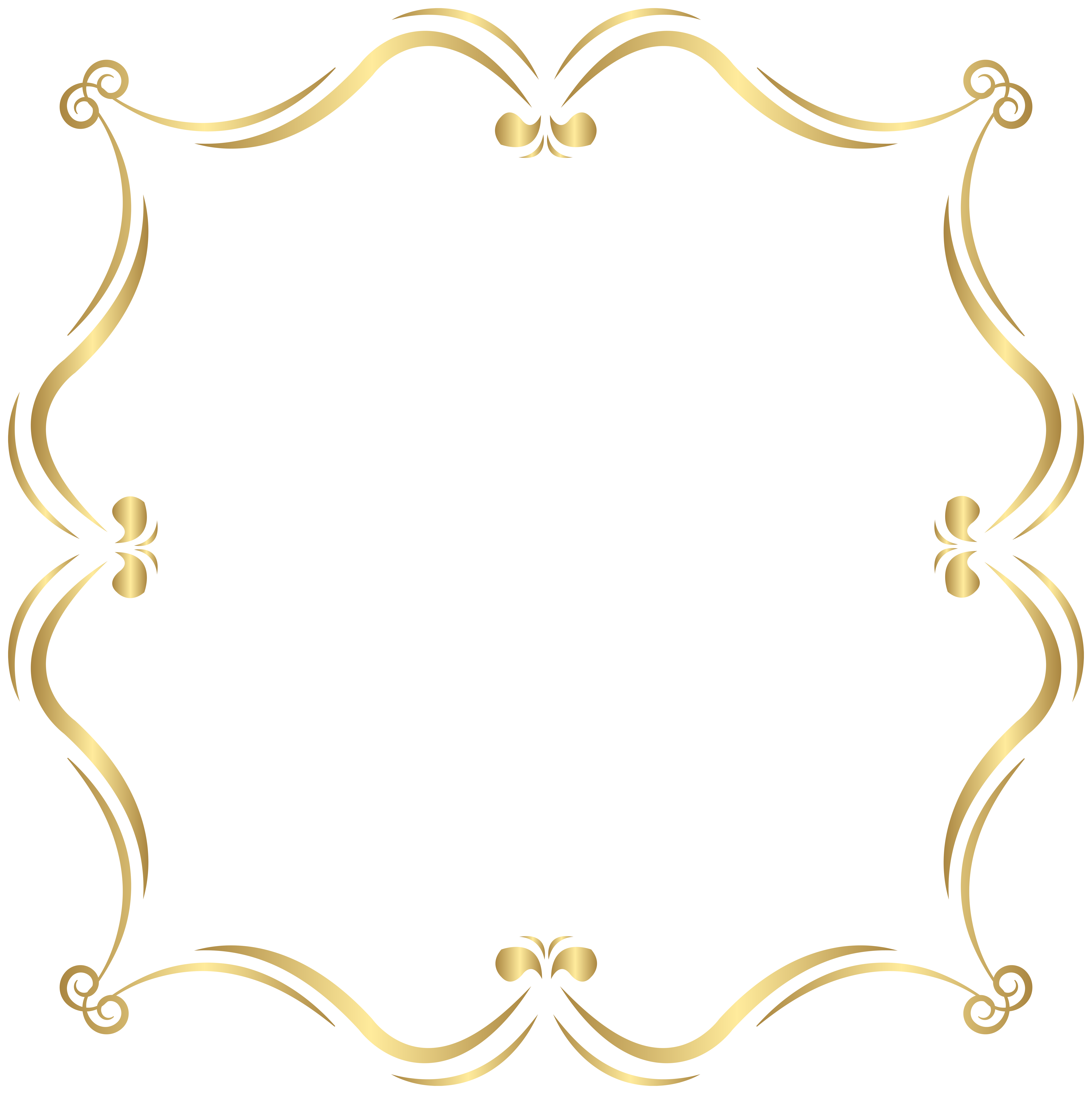 Gold border clipart image library download Gold Border PNG Clip Art Image | Gallery Yopriceville - High ... image library download