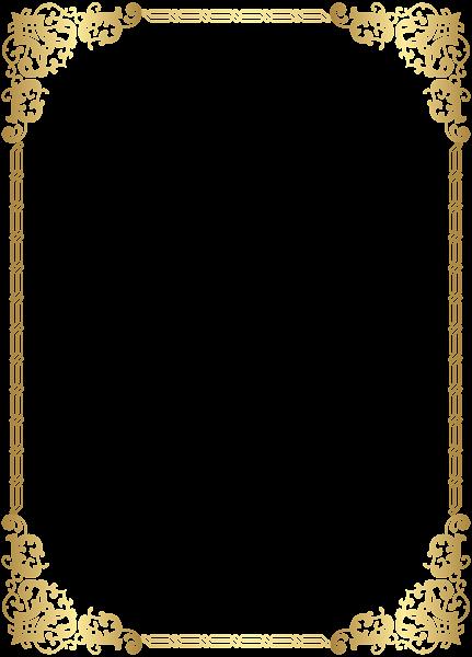 Gold border clipart image royalty free stock Gold Border Frame Transparent Clip Art Image | Marcos decorativos ... image royalty free stock