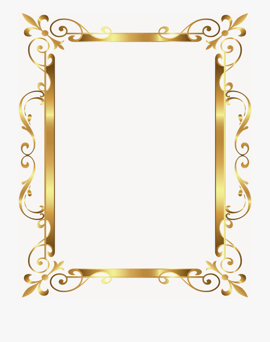 Gold borders clipart jpg royalty free library Gold Frame, Picture Frame - Certificate Gold Border Design #1800290 ... jpg royalty free library