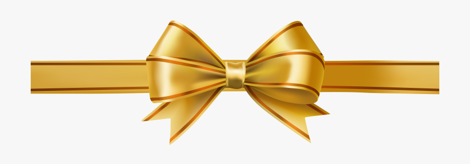 Ribbon Clipart Glitter - Gold Bow Transparent Background #142390 ... vector black and white download