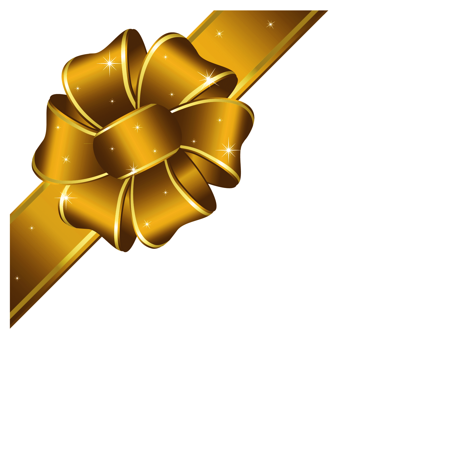 Gold christmas bow clipart 1 » Clipart Portal banner transparent download