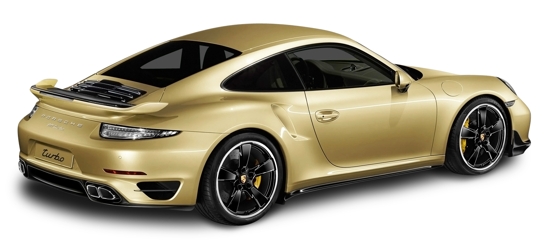 Gold car clipart clipart transparent library Porsche 911 Turbo Aerokit Gold Car PNG Image - PurePNG | Free ... clipart transparent library