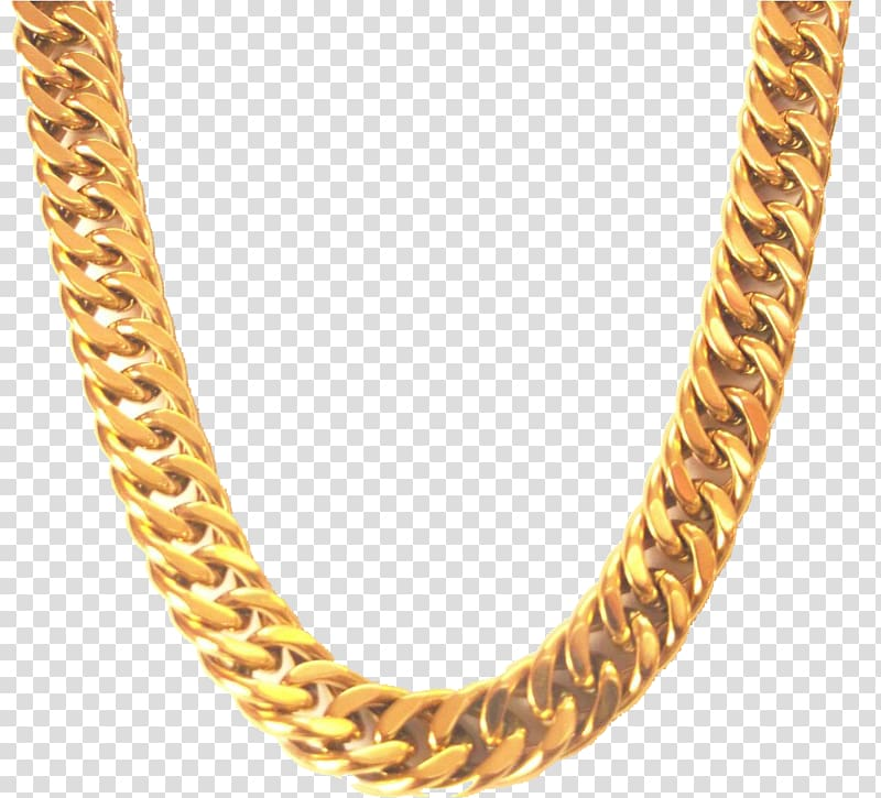 Gold chain clipart transparent clipart free Gold-colored Cuban chain necklace, Chain Necklace Jewellery Gold ... clipart free