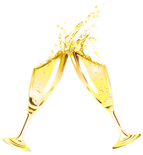Gold champagne glass clipart clip royalty free New Year Champagne Flutes Clipart | Ano Novo | Coffee wine ... clip royalty free