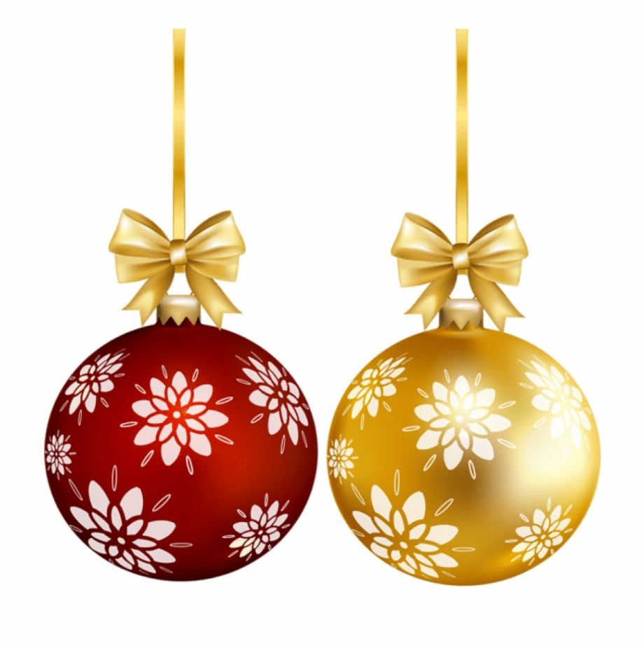 Gold christmas balls clipart vector royalty free library Red Gold Christmas Ball Png Transparent Clip Art - Christmas Balls ... vector royalty free library
