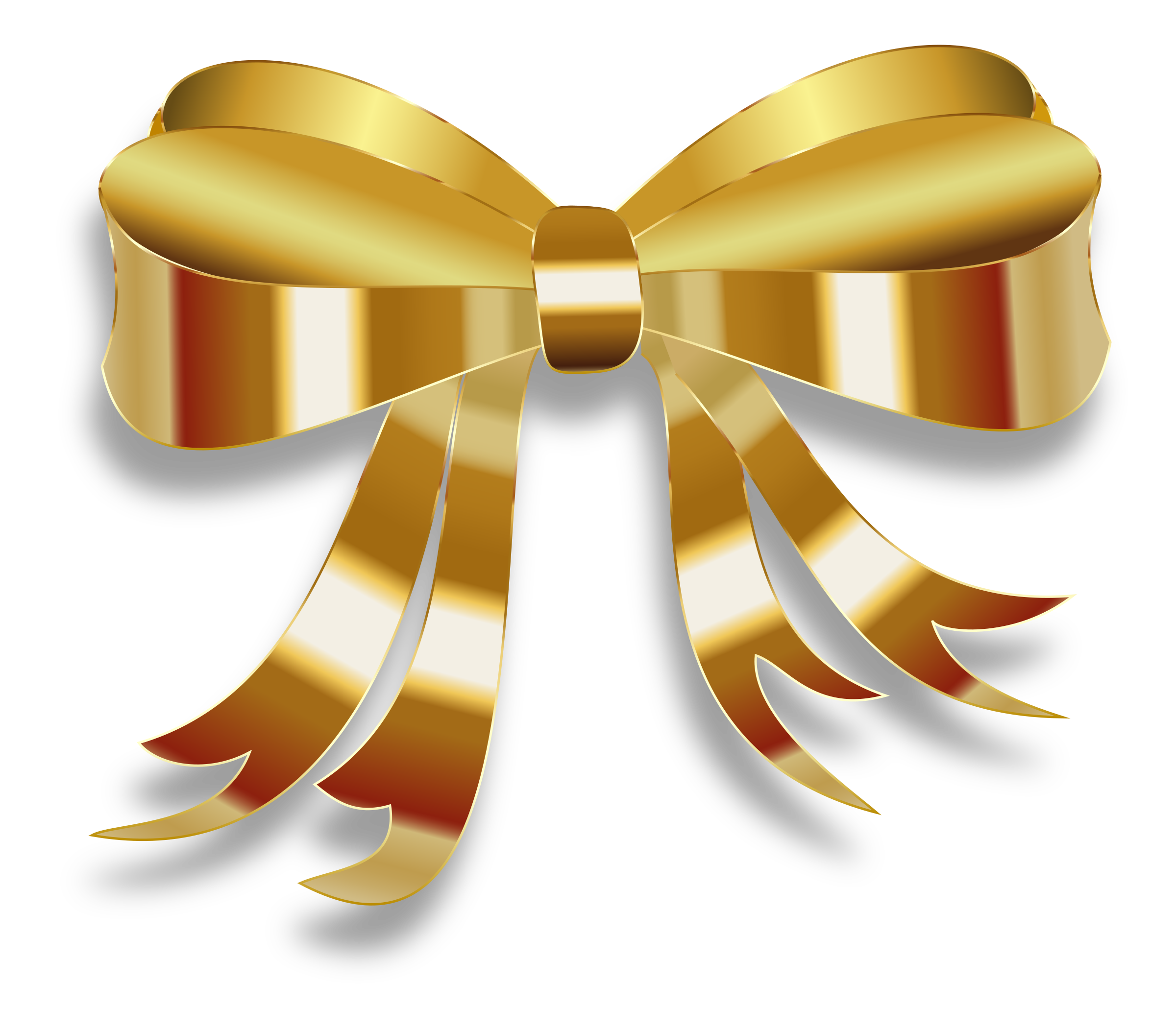 Gold christmas bow clipart clip art free Clipart - Golden Ribbon clip art free