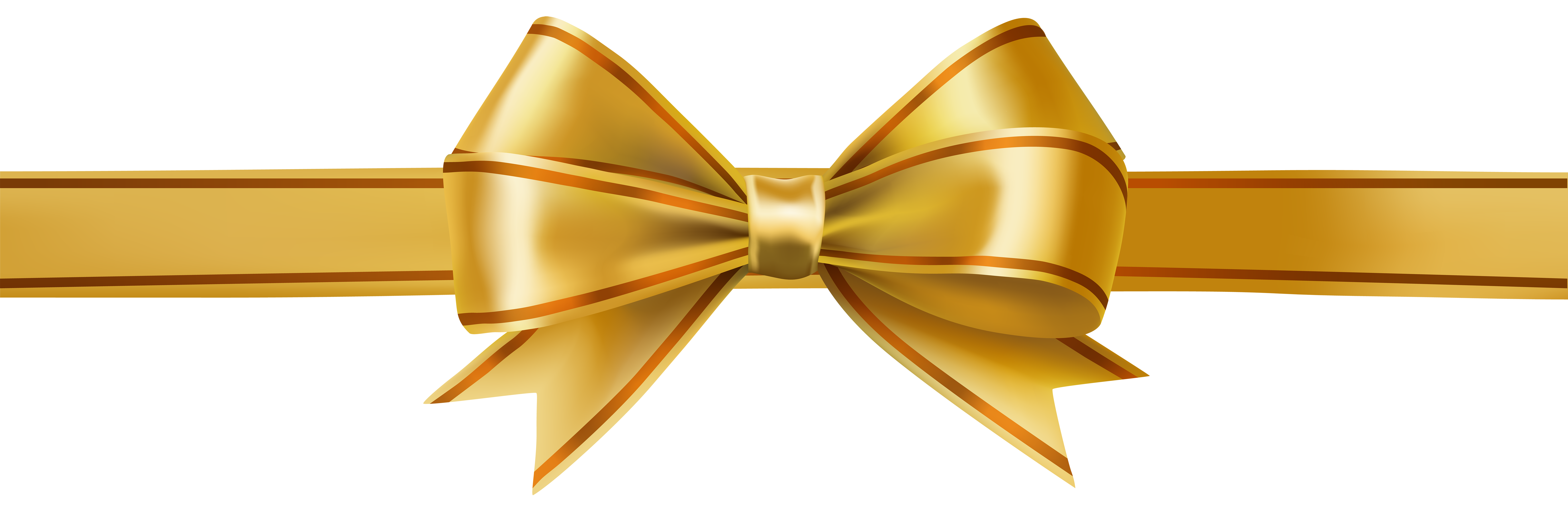 Gold christmas bow clipart freeuse Ribbon Clip art - Golden Bow PNG Clip Art Image 8000*2604 transprent ... freeuse