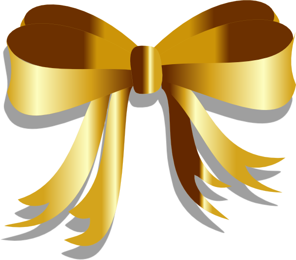 Gold christmas bow clipart image freeuse Gold Ribbon Clip Art at Clker.com - vector clip art online, royalty ... image freeuse