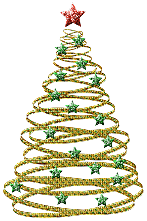 Gold christmas clipart transparent Transparent Gold Christmas Tree with Green Stars PNG Picture ... transparent